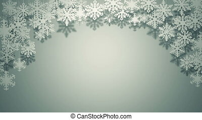 Paper snowflakes swinging decor - A lot of different paper...