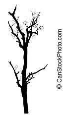 Dead Tree Silhouette - Abstract Spooky Horrible Dead Tree...