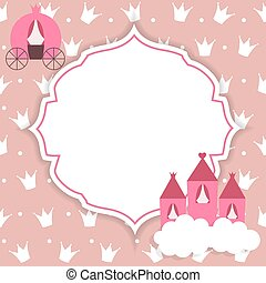Princess Abstract Background Vector Illustration EPS10