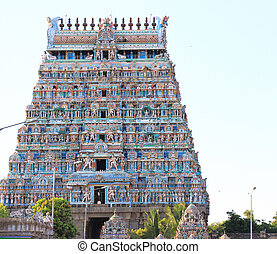 massive ancient temple complex chidambaram tamil nadu india...