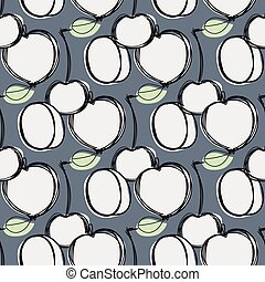 Fruits seamless pattern for your design - Fruits seamless...
