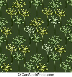 Decorative trees seamless pattern Vector illustration for...