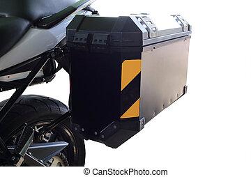 bolsa, motocicleta, lado