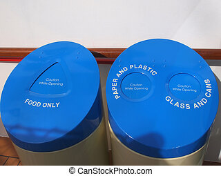 recycling - Big containers for recycling waste sorting -...
