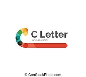 C letter logo, minimal line design, business icon