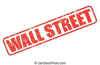 Wall street red stamp text on white