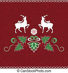 Christmas pattern - Christmas seamless pattern with deer,...