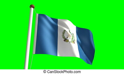 Guatemalan flag seamless green screen