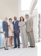 Interracial Men and Women Business Team - Interracial group...