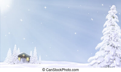 Winter Background Loop - Winter Background with gentle...