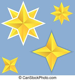 Shiny yellow Stars.