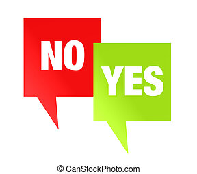 Yes No Red Green Design