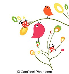 birds and ladybirds