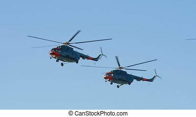 HD - Air force Helicopters in the sky