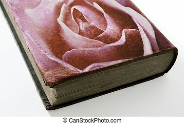 Rose printed on the cover of an old book