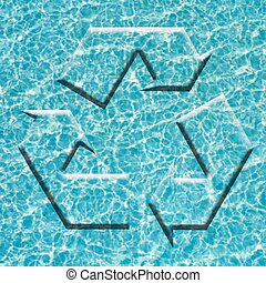 Recycle blue symbol environment conservation - Recycle...