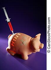 inyección, cerdo, Un, h1n1, vacuna