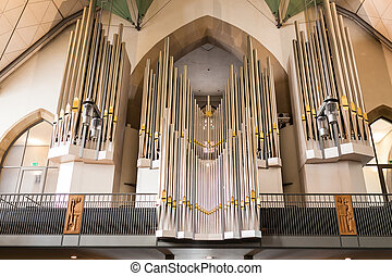 Church organ pipes - Big church organ pipes