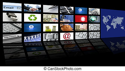 video tv screen technology and communications - video tv...