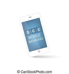 Mobile banking smart phone icon
