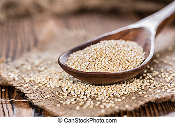 Uncooked Quinoa - Portion of uncooked Quinoa detailed...
