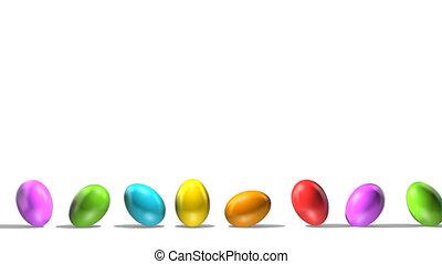 Rolling Painted Eggs Loop