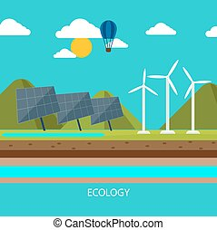 Renewable energy like hydro, solar and wind power -...