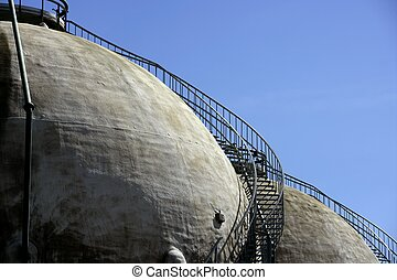 Gas Refinery, storage cistern outdoor in Spain