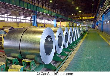 Rolls of steel sheet in steel pant