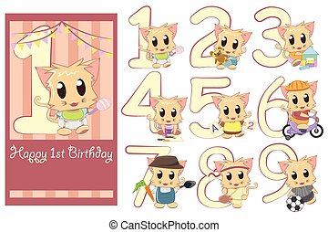 Kids birthday template