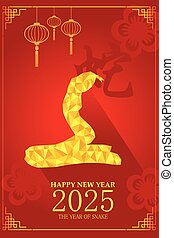 Chinese New Year design for Year of snake - A vector...