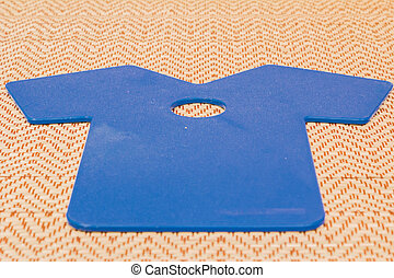 isolated object. - Car Windshield scraper as a shirt on...