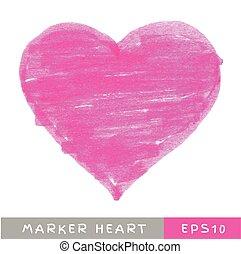 Pink Felt Pen Heart