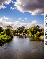 River Avon From Bidford - View upstream of the river avon...