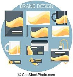 Brand Design. Corporate identity template. Vector company...