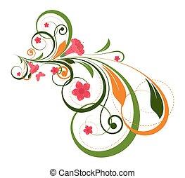Decorative Colorful Floral Vector