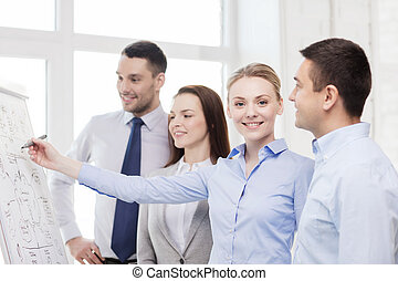 business team discussing something in office - business,...