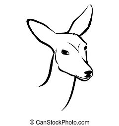 Roe Head - Vector illustration : Roe Head on a white...