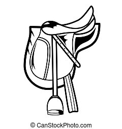 Horse Saddle - Vector illustration : Horse Saddle on a white...
