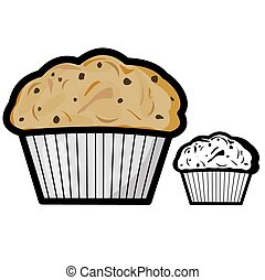 Muffin - Vector illustration : Muffin on a white background.