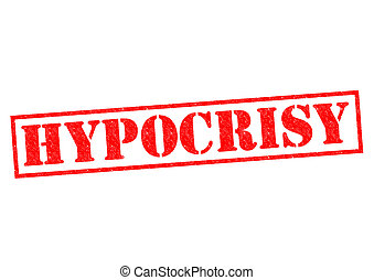 HYPOCRISY red Rubber Stamp over a white background.