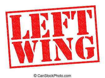 LEFT WING red Rubber Stamp over a white background.