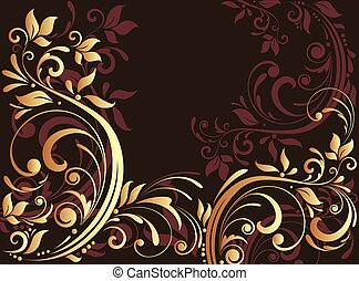 Floral gold card
