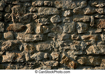 Masonry in Spain, old stone walls - Masonry stone wall...