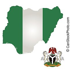 Nigeria Flag - Flag and coat of arms of the Federal Republic...
