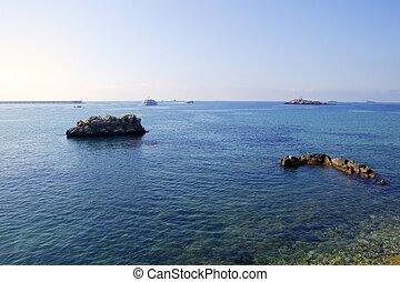 Ibiza island seascapes in Spain
