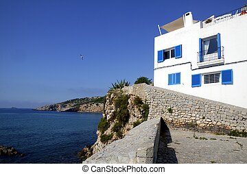 Ibiza from balearic islands in Spain Mediterranean touristic...