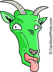 Green mask goat - Creative design of Green mask goat