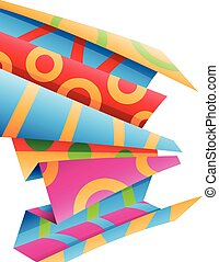 Colorful Folded Wrapping Paper Stock Illustration - Stock...