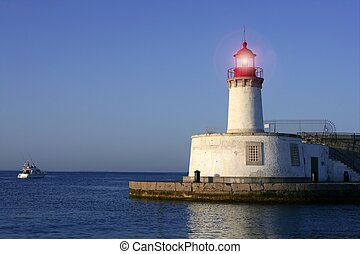 Lighthouse in balearic Islands Ibiza city